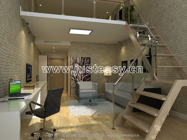现代简约客厅3d模型下载 室内设计装修资源平台