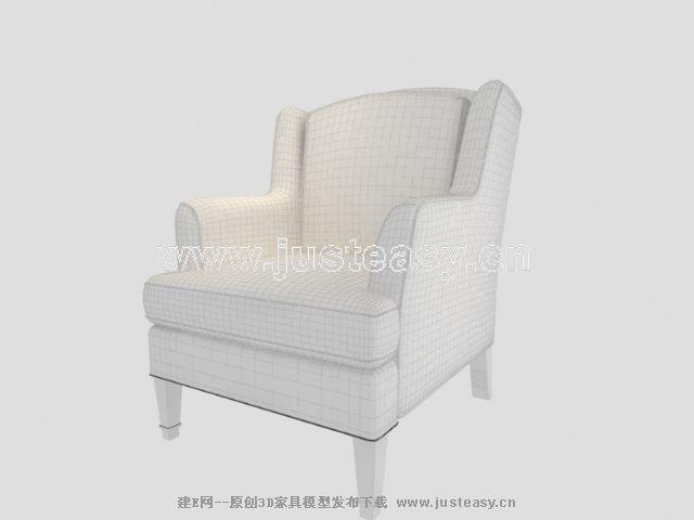 新古典沙发3d模型制作417_建e模型网_建e网_室内设计