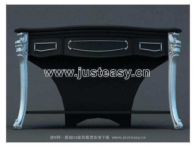 欧式桌子3d模型下载[id:33997]