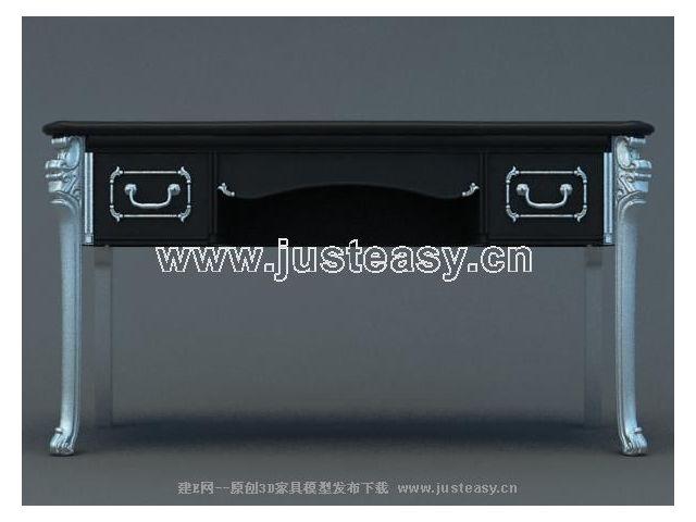 欧式桌子3d模型下载[id:34005]
