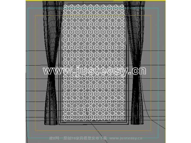 现代花格屏风3d模型下载[id:35181]