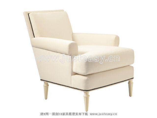新古典沙发3d模型制作607_建e模型网_建e网_室内设计