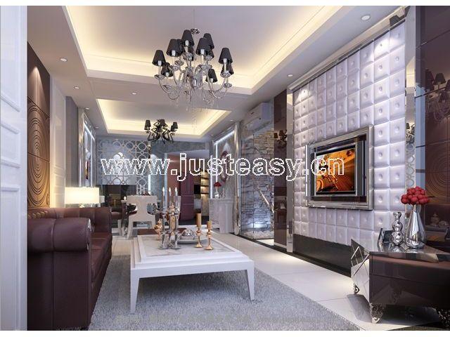 欧式新古典现代客厅餐厅3d模型下载[id:37679]