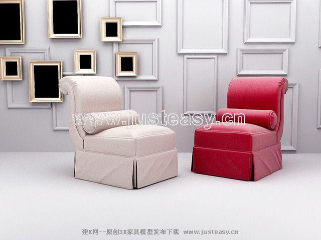 新古典沙发3d模型制作610_建e模型网_建e网_室内设计