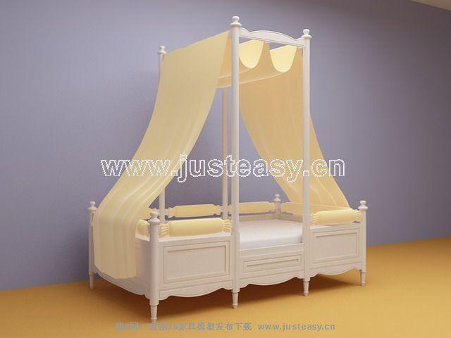 儿童床3d模型下载[id:37831]