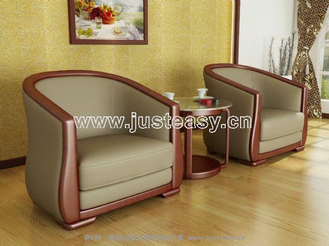 转角沙发3d模型下载