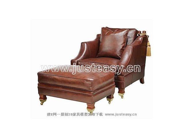 沙皇大公馆欧式沙发躺椅3d模型下载[id:44572]
