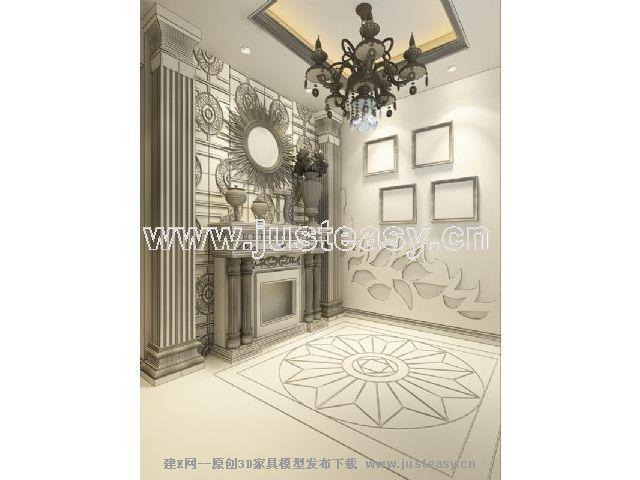 欧式家具玄关别墅装修图满多