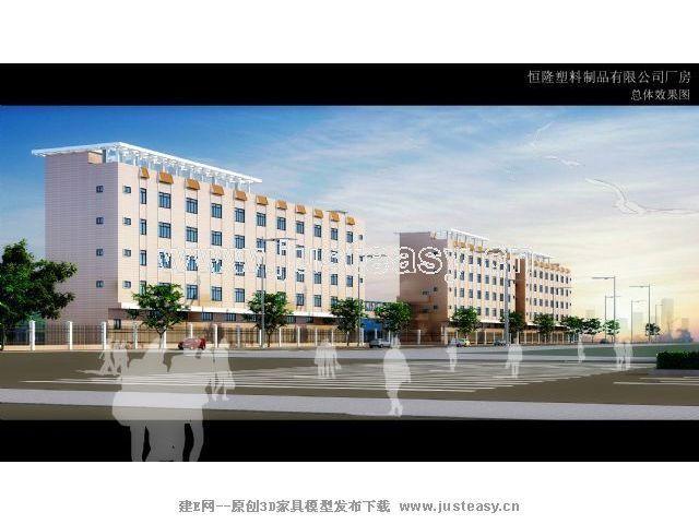 厂房建筑设计3d模型下载[id:47001]