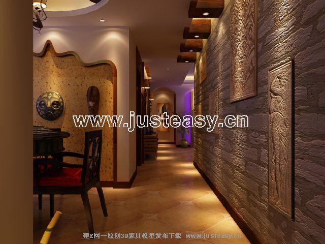 东南亚风格3d模型下载 其它风格 家居生活 场景 室内 家