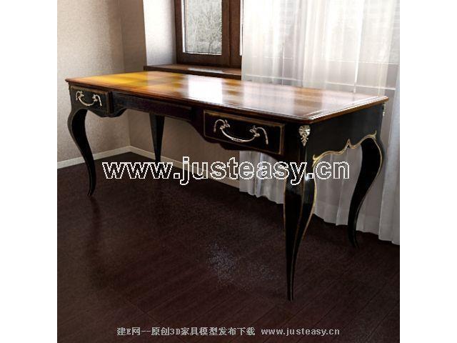 欧式古典桌子3d模型下载[id:50314]
