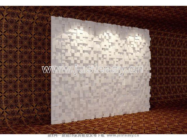 墙面造型板3d模型下载[id:51707]