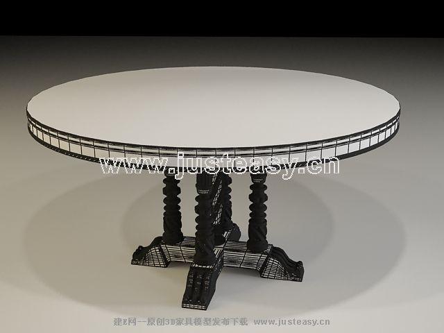 欧式-古典桌子3d模型下载[id:52451]