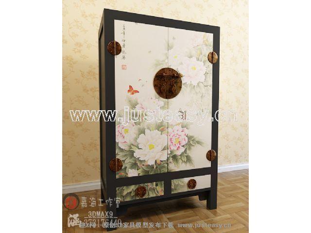 手绘中式家具柜