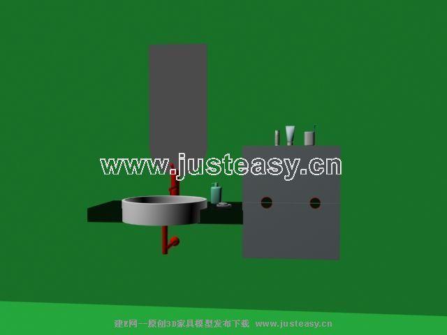 洗手盆3d模型下载 室内设计装修资源平台