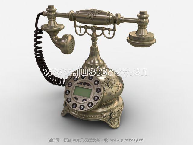 欧式宫廷电话3d模型下载[id:59458]