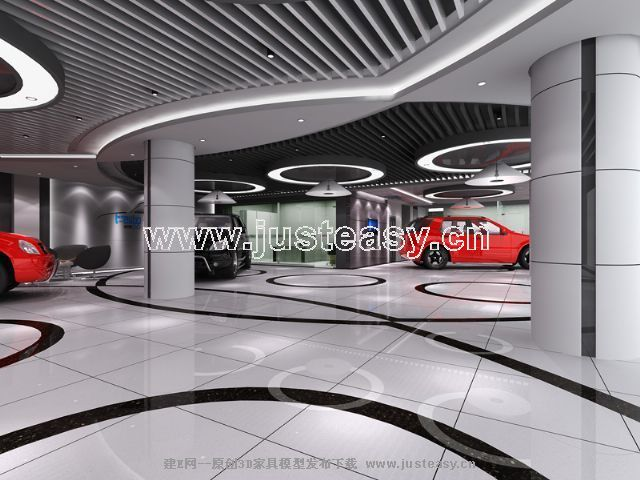 现代汽车展厅[模型id:60009]