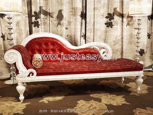 欧式绒布沙发图片