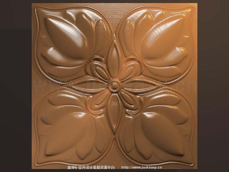 欧式浮雕雕花板3d模型下载[id:76049]