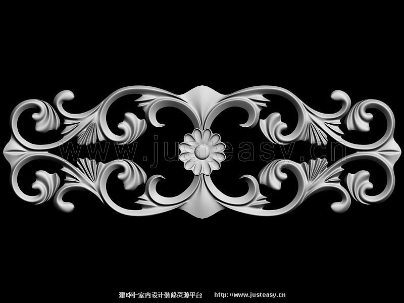 欧式雕花3d模型下载[id:76328]