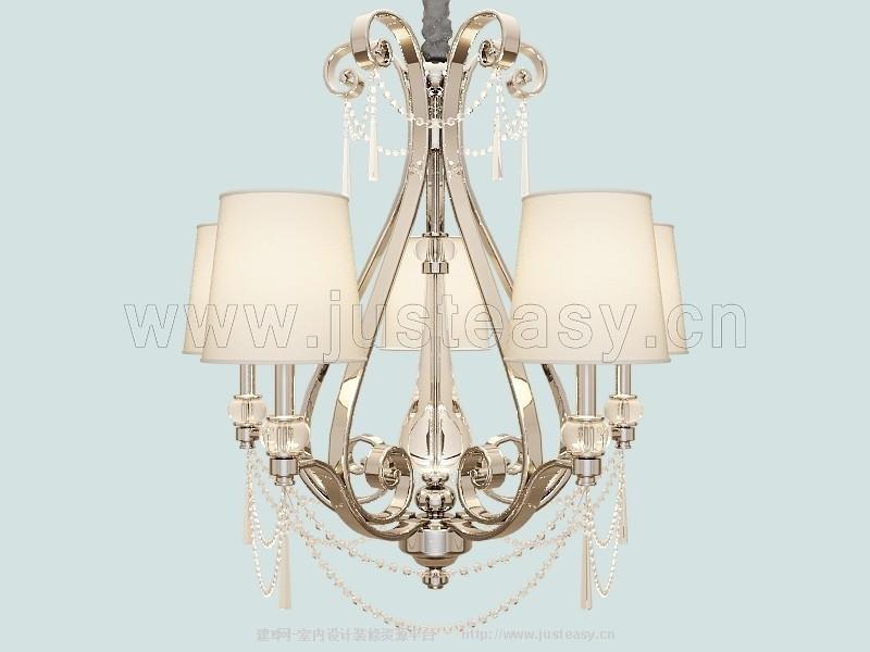 欧式水晶吊灯模型;