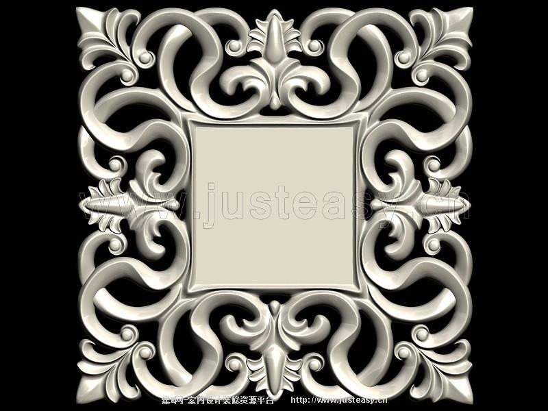 欧式雕花镜子[模型id:77027]图片