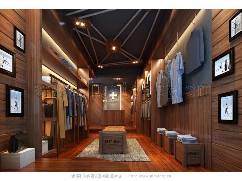 现代服装店3d模型下载[id:77404]