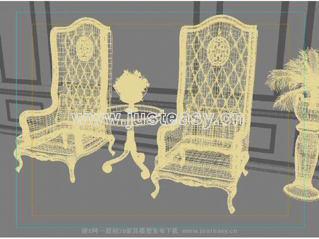 欧式宫廷古典椅子图片