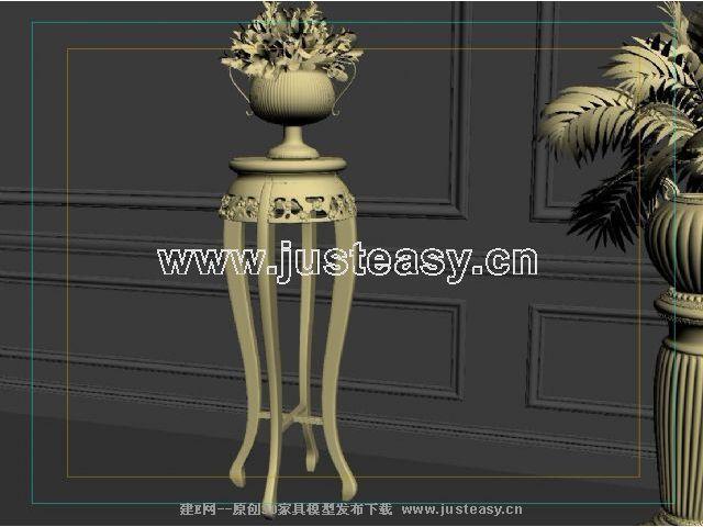 宫廷一号欧式新古典花架3d模型下载[id:66700]