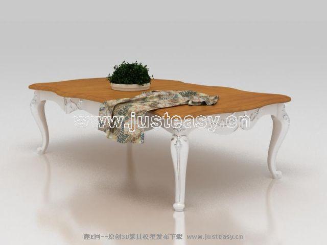 欧式新古典雕花茶几3d模型下载[id:67599]