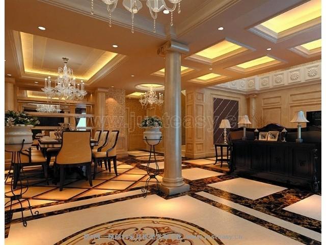 欧式别墅客餐厅3d模型下载[id:70242]