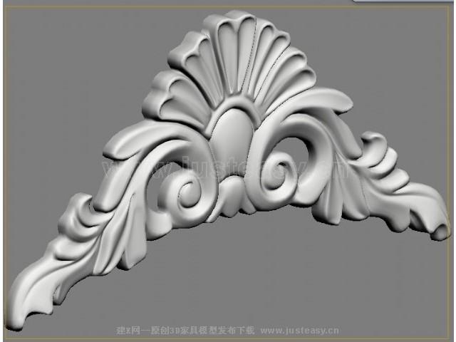 欧式雕花3d模型下载[id:70808]