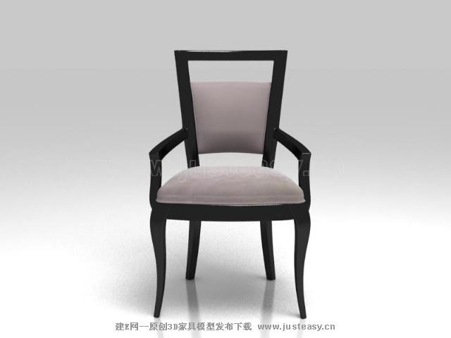 现代扶手椅3d模型下载[id:72645]
