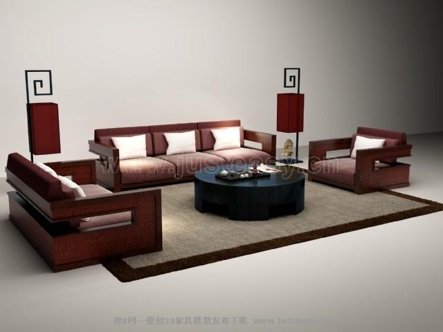 中式室内装 新中式别墅室内效果图 新中式风格