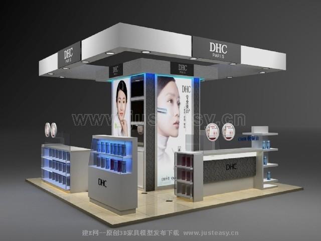 现代化妆品柜台展位3d模型下载[id:73104]