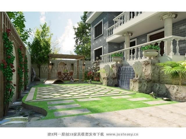 别墅3d模型下载图片大全下载;