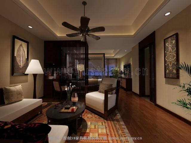 东南亚客房卧室