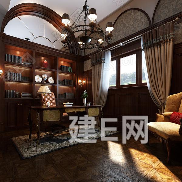 中式民国书房 建e网3d模型分享交流平台 3d模型下载 3d模型下载网站