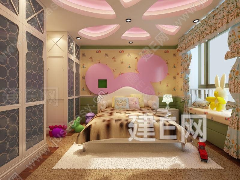 现代儿童房卧室3d模型下载[id:89675]