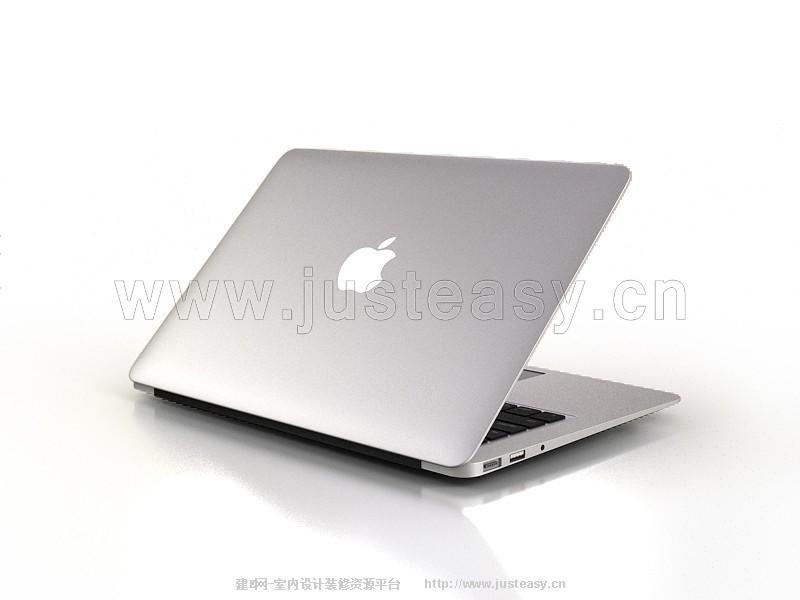 苹果macbook笔记本3d模型下载[id:77991]_建