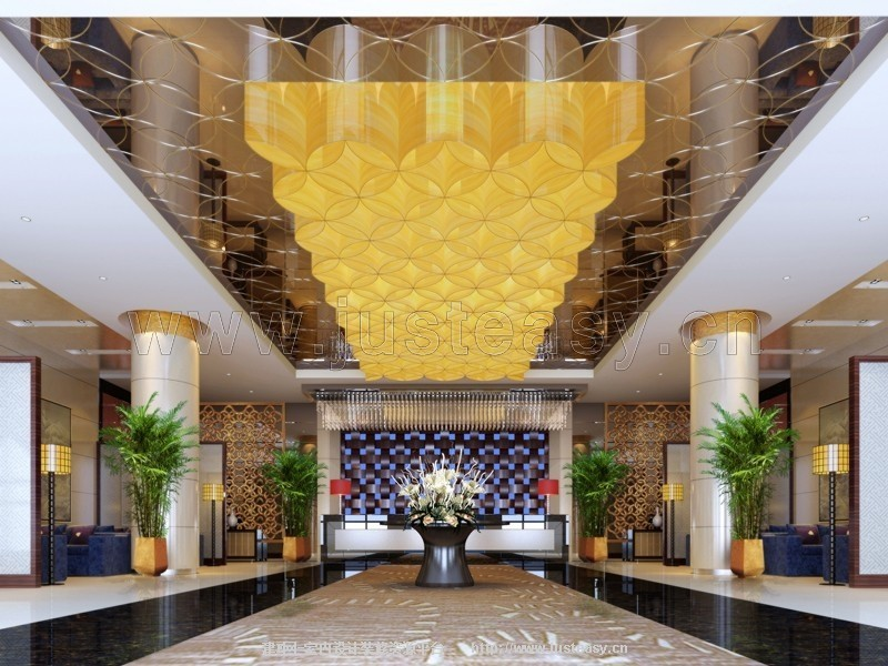 现代酒店大厅效果图 现代酒店大堂效果图 现代酒店外观效