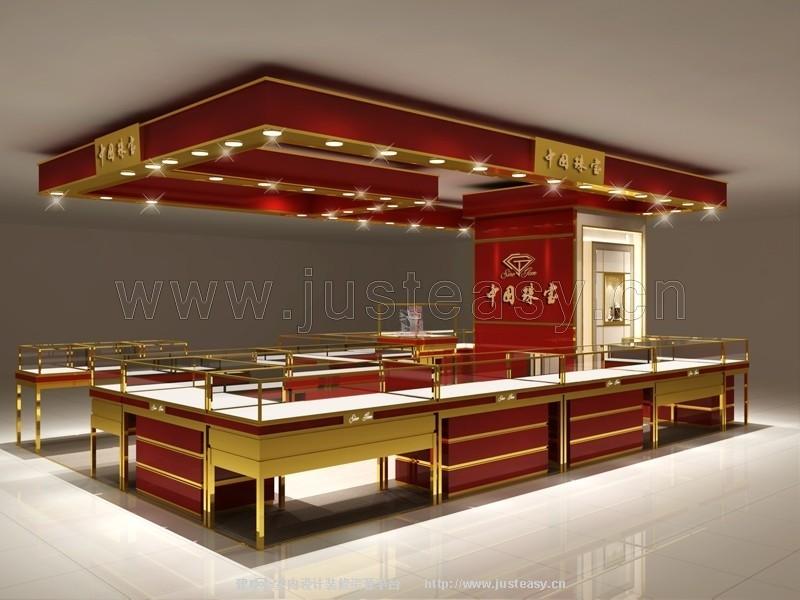 现代中式珠宝展柜3d模型下载[id:79118]