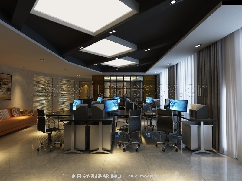 新中式办公建筑 新中式办公 新中式办公空间设计高清图片