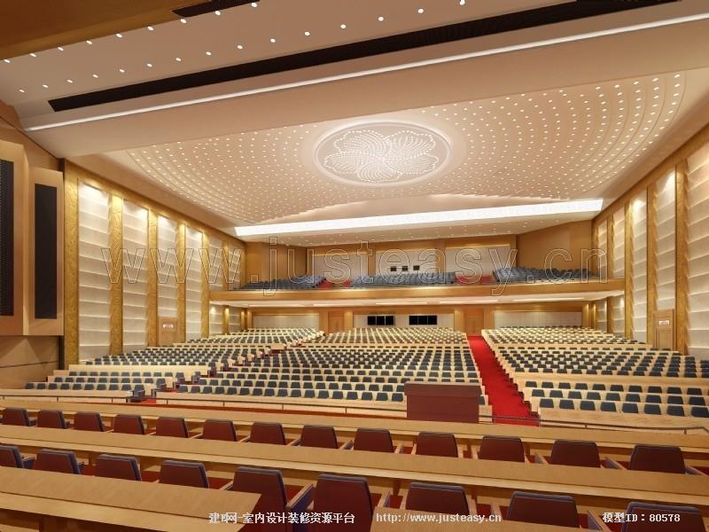 现代广州珠岛宾馆会议厅3d模型下载[id:80578]
