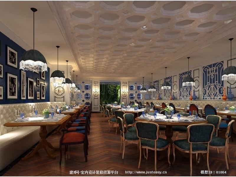 欧式地中海茶餐厅散座3d模型下载[id:81864]