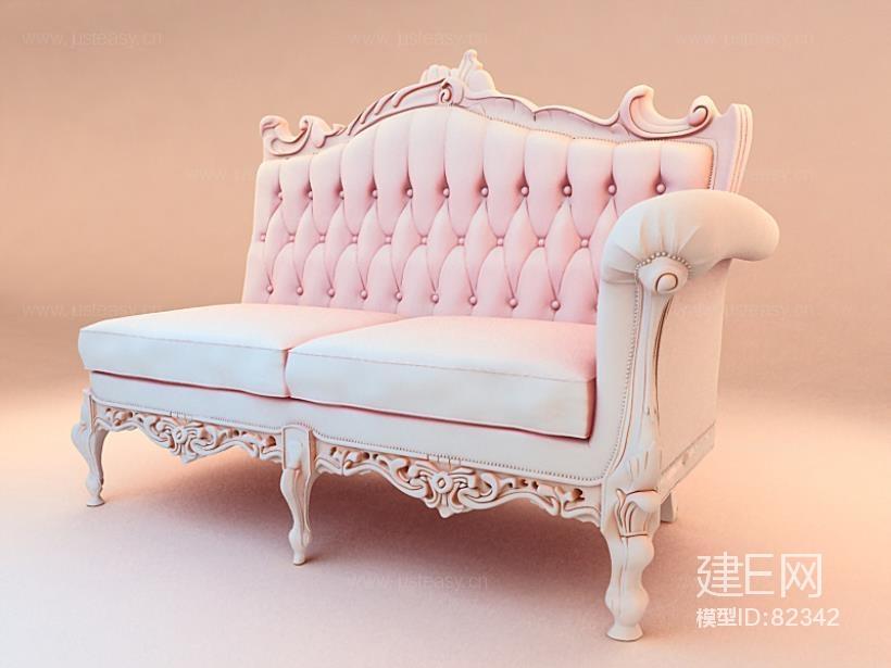 欧式双人沙发贵妃椅3d模型下载[id:82342]