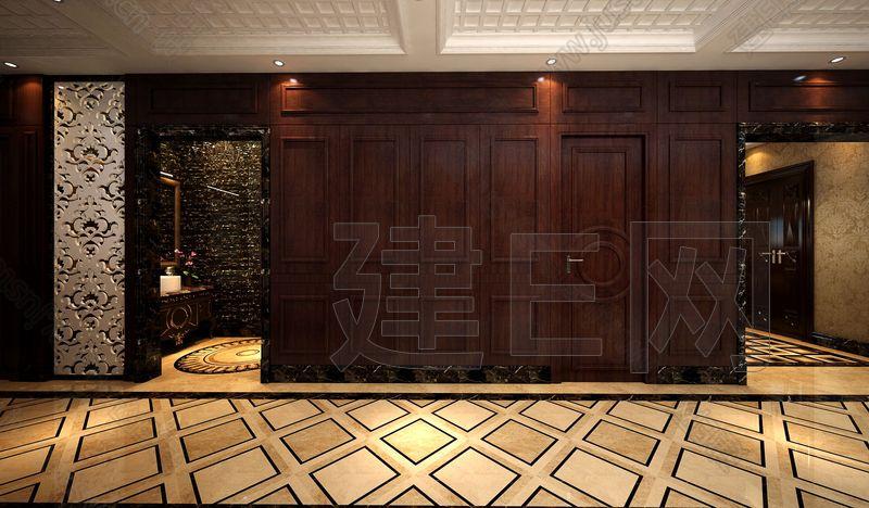 现代欧式门厅过道洗手间3d模型下载[id:82569]