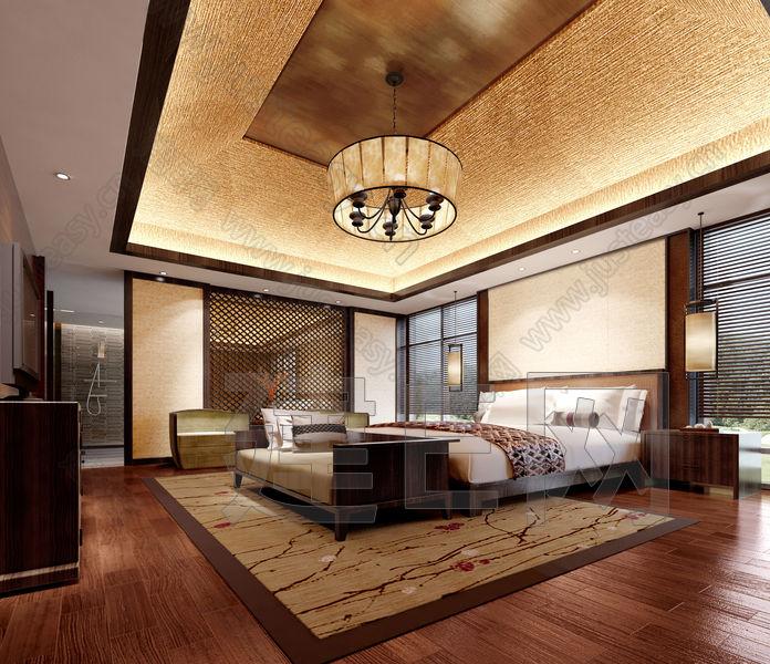 丽江铂尔曼度假五星酒店东南亚现代中式客房卧室