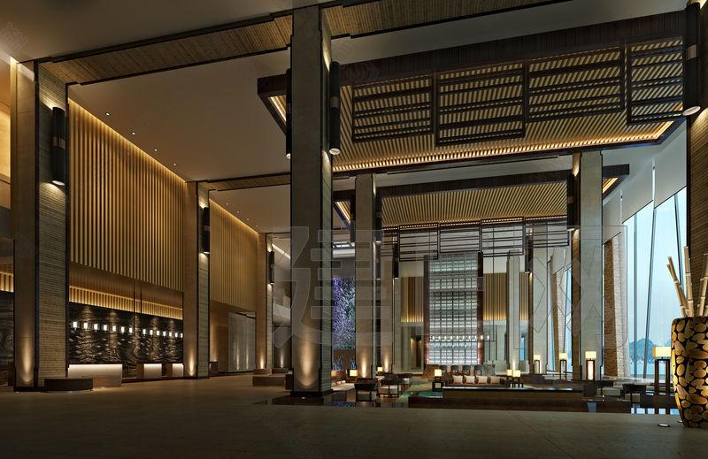 大堂大厅3d模型下载[id:84905   中式餐厅大堂-上海装潢网   高清图片