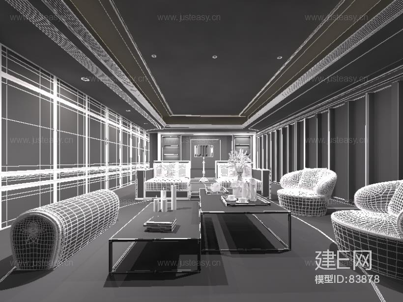 梁志天香港天汇现代奢华客厅沙发组合